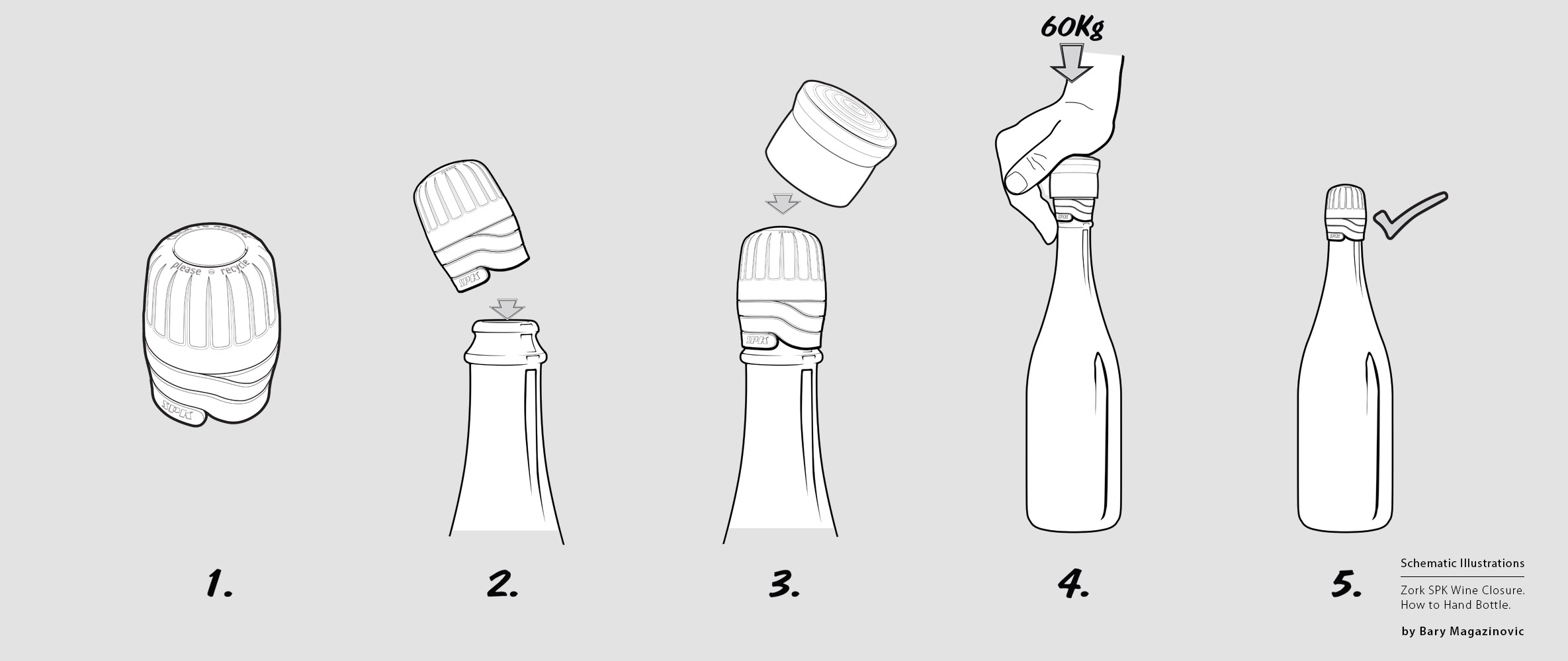 Australian Product Design Industrial Design SPK sparkling Champagne how to hand bottle icons Gancia by Barry Magazinovic