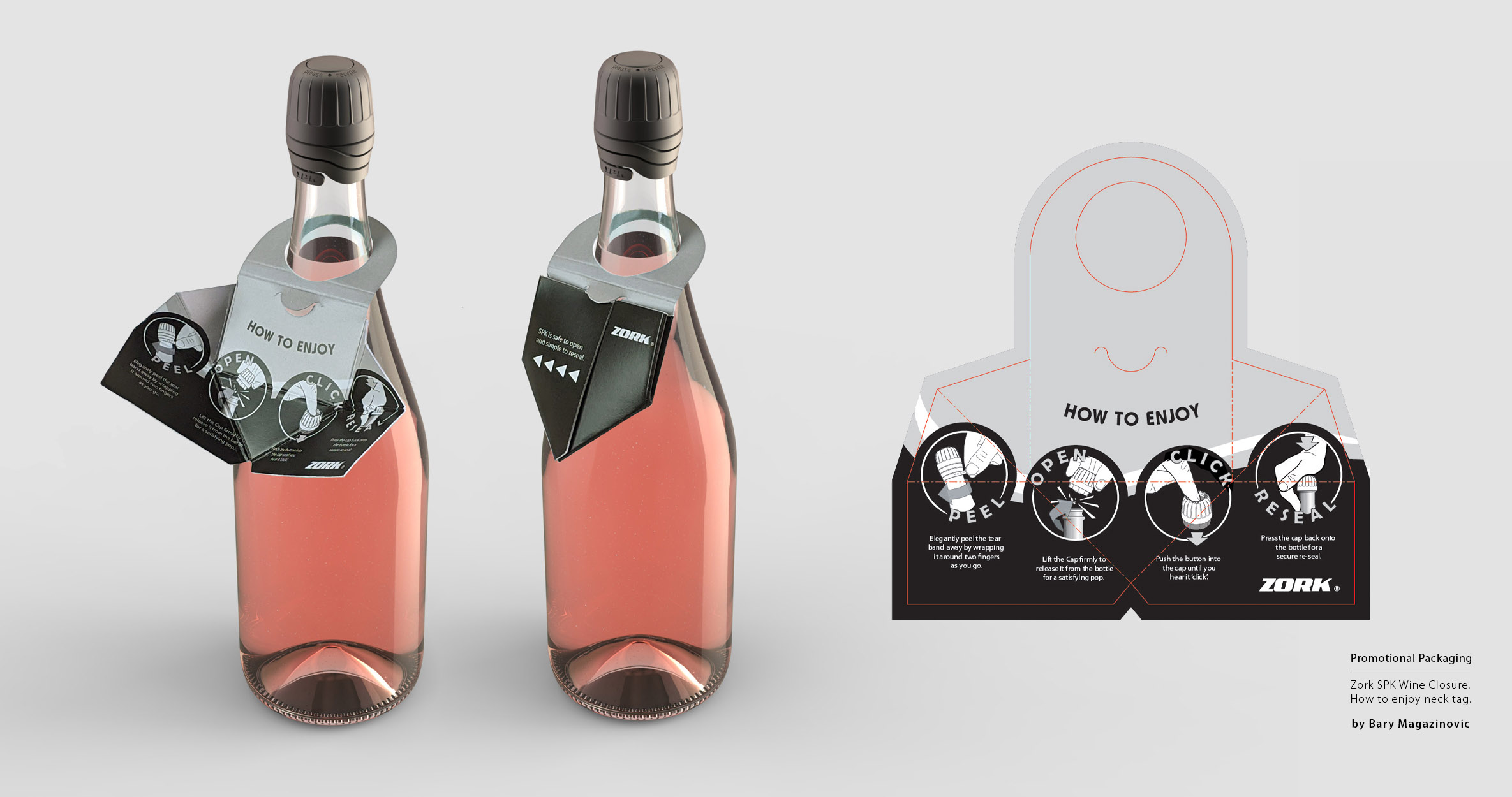Australian Product Design Industrial Design graphic design marketing packaging necktag 2 by Barry Magazinovic