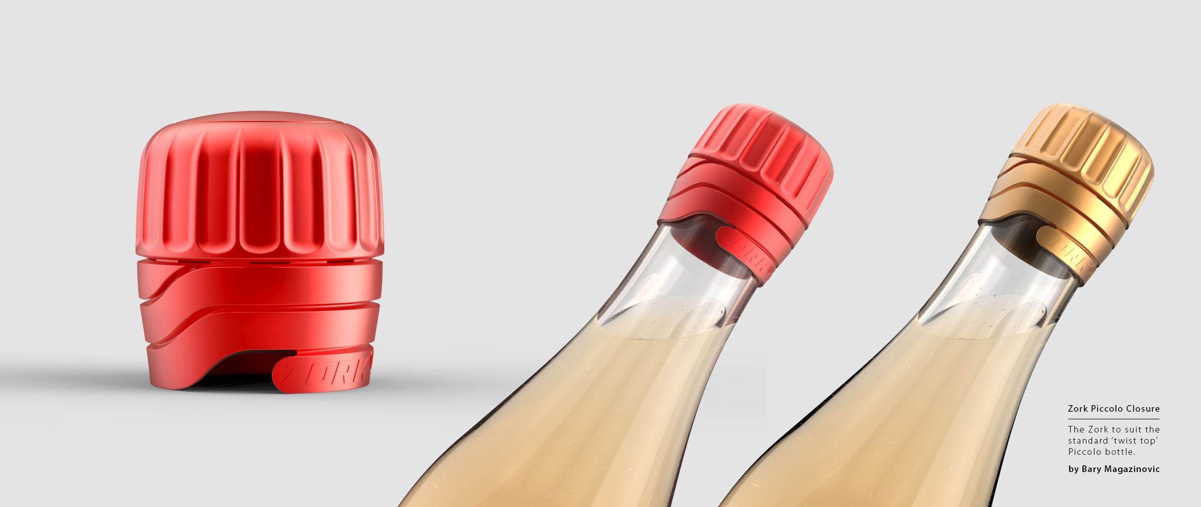 Australian Product Design Industrial Design Zork Wine closure piccolo bottle red wine white wine by Barry Magazinovic