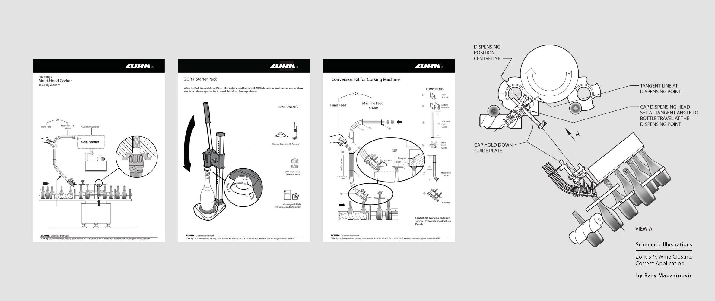 Australian Product Design Industrial Design SPK sparkling Champagne correct application illustrations by Barry Magazinovic