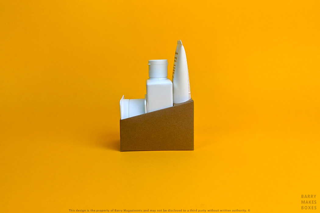 Australian Packaging Design Shelf Ready Display on Orange by Barry Makes Boxes