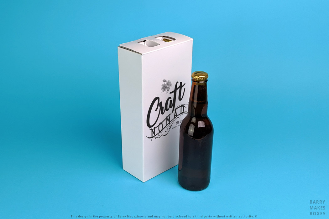 Australian Packaging Design, Product Design Special Unique Best Craft Nomad twin beer carry handle on Blue by Barry Makes Boxes, Barry Magazinovic