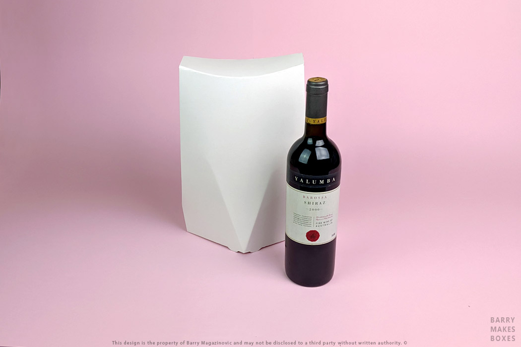 Australian Packaging Design, Product Design Special Unique Best True Style is Ageless Two Bottle wine carry Pack like a sharp suit on Pink by Barry Makes Boxes, Barry Magazinovic