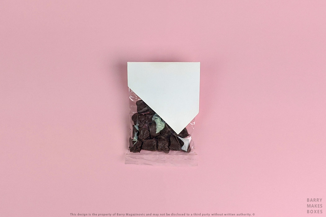 Australian Packaging Design, Product Design, Special Unique presentation promotion Pretty on Pink wrap chocolate pack carton on pink by Barry Makes Boxes, Barry Magazinovic